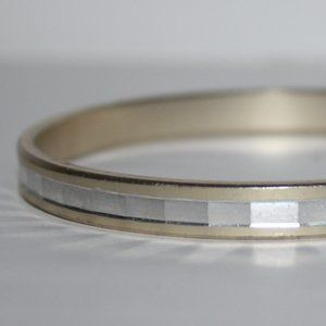 Silver and gold W Germany Bangle bracelet